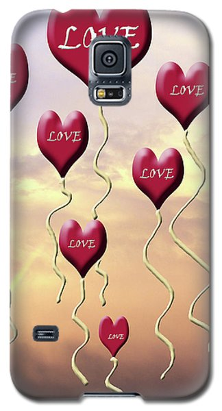 Love Is In The Air Sunshine Rainbow Galaxy S5 Case
