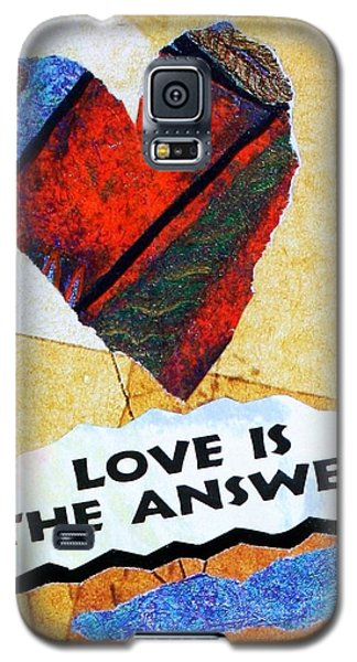 Love Is The Answer Collage Galaxy S5 Case