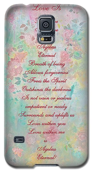 Love Is...2 - Original Art And Poetry - Image And Text Galaxy S5 Case