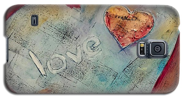 Galaxy S5 Case featuring the painting Love by Lou Belcher