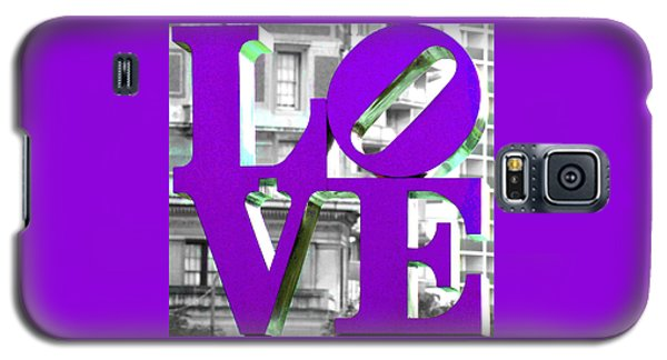 Love Philadelphia Purple Galaxy S5 Case