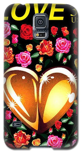 Love Stamp Galaxy S5 Case by P Dwain Morris