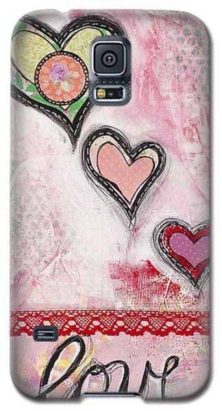 Galaxy S5 Case featuring the mixed media Love  by Stanka Vukelic