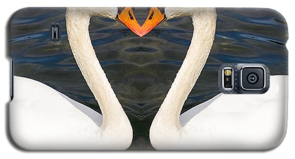 Galaxy S5 Case featuring the photograph Love Swans by Cathy Donohoue
