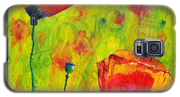 Love The Poppies Galaxy S5 Case by Lisa Fiedler Jaworski