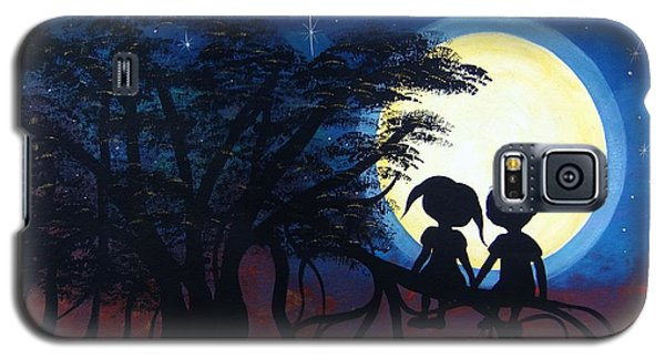 Galaxy S5 Case featuring the painting Love Under The Banyan Tree by Cindy Micklos