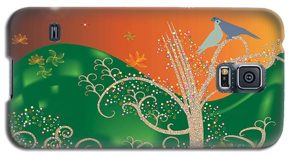 Galaxy S5 Case featuring the digital art Lovebirds by Kim Prowse
