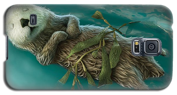 Otter Galaxy S5 Case - Lovely Day For A Nap by Gary Hanna