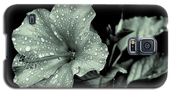 Lovely Hibiscus In Monochrome Galaxy S5 Case
