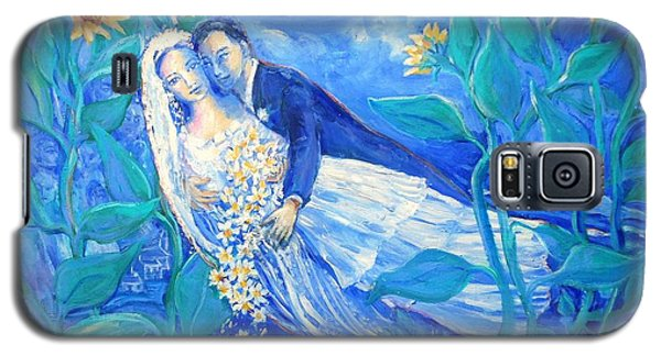 Lovers And Sunflowers  After Marc Chagall  Galaxy S5 Case