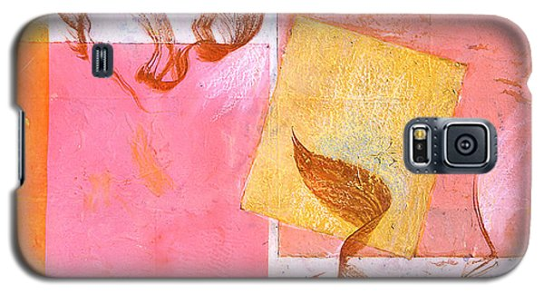 Galaxy S5 Case featuring the painting Lovers Dance 2 In Sienna And Pink  by Asha Carolyn Young