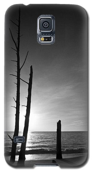 Lovers Key Sunset Black And White One Galaxy S5 Case