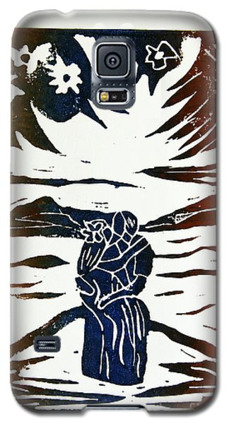 Lovers - Lino Cut A La Gauguin Galaxy S5 Case