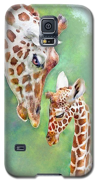 Loving Mother Giraffe2 Galaxy S5 Case by Jane Schnetlage