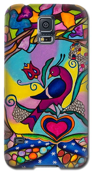 Galaxy S5 Case featuring the painting Loving The World by Lori Miller