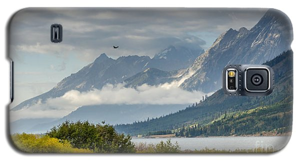 Low Clouds On The Teton Mountains Galaxy S5 Case