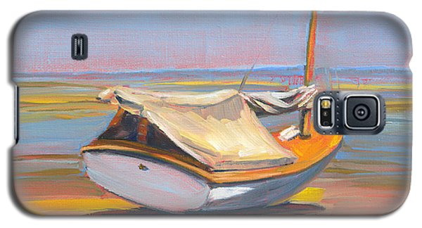 Low Tide Sailboat Galaxy S5 Case by Trina Teele
