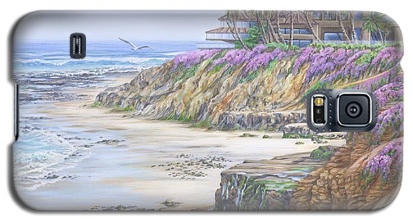 Galaxy S5 Case featuring the painting Low Tide Solana Beach by Jane Girardot