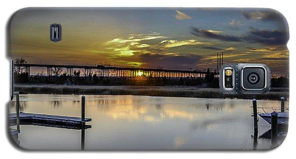Lowcountry Marina Sunset Galaxy S5 Case
