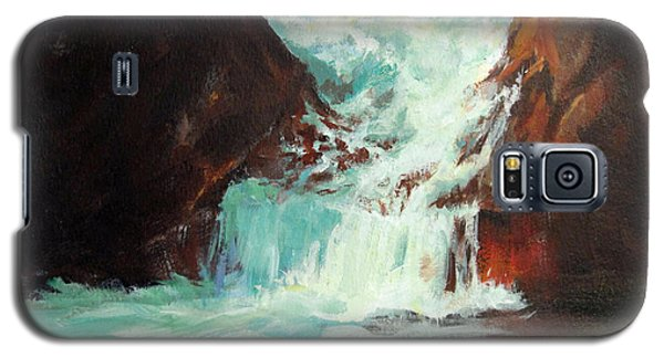 Galaxy S5 Case featuring the painting Lower Chasm Falls by Carol Hart