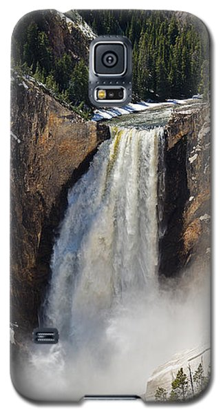 Galaxy S5 Case featuring the photograph Lower Falls Of The Yellowstone by Sue Smith