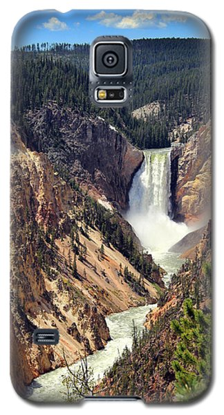 Lower Falls Of Yellowstone Galaxy S5 Case