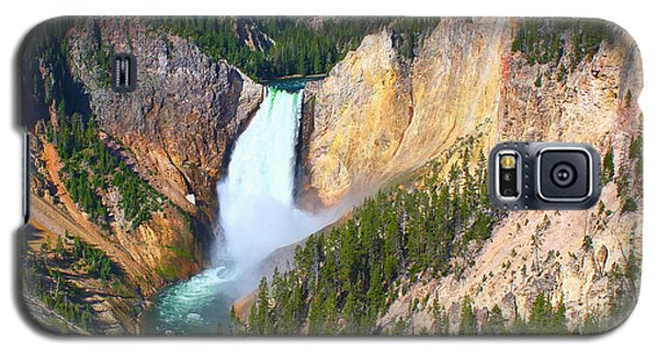 Galaxy S5 Case featuring the photograph Lower Falls Yellowstone 2 by Teresa Zieba