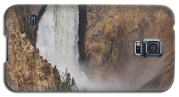 Galaxy S5 Case featuring the photograph Lower Falls - Yellowstone by Mary Carol Story