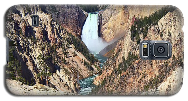 Galaxy S5 Case featuring the photograph Lower Falls Yellowstone by Teresa Zieba