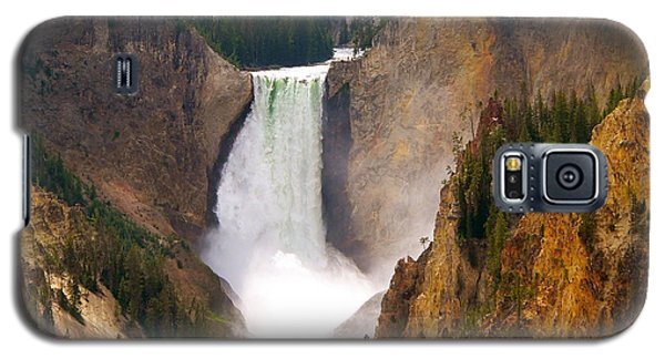 Galaxy S5 Case featuring the photograph Lower Yellowstone Falls by Eric Tressler