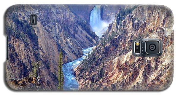 Lower Yellowstone Falls Galaxy S5 Case