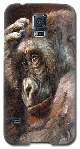 Lowland Gorilla Galaxy S5 Case by David Stribbling