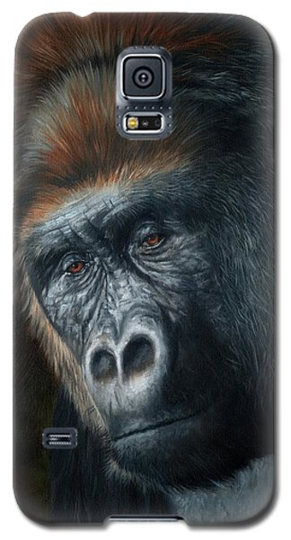 Gorilla Galaxy S5 Case - Lowland Gorilla Painting by David Stribbling