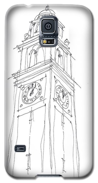 Galaxy S5 Case featuring the drawing Lsu Bell Tower Study by Calvin Durham