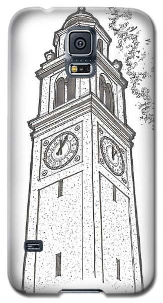 Galaxy S5 Case featuring the drawing Lsu Memorial Bell Tower by Calvin Durham