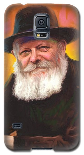 Galaxy S5 Case featuring the painting Lubavitcher Rebbe by Sam Shacked