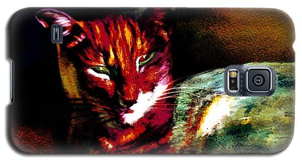 Lucifer Sam Tiger Cat Galaxy S5 Case by Martin Howard