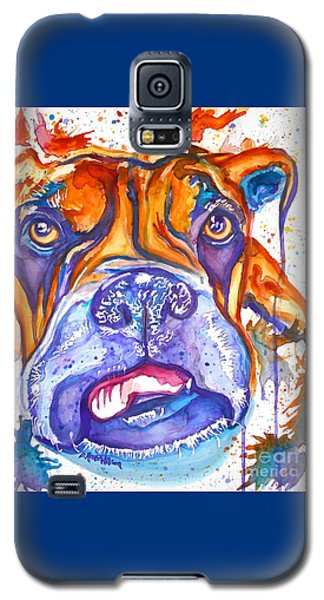 Lucille Boxer Blues  Galaxy S5 Case by D Renee Wilson
