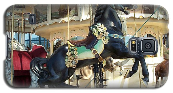 Galaxy S5 Case featuring the photograph Lucky Black Pony - Syracuse Ptc No 18 by Barbara McDevitt