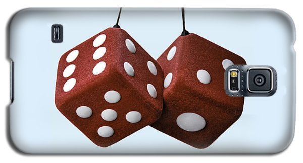Lucky Fuzzy Red Dice  Galaxy S5 Case