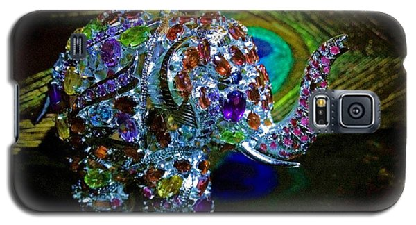 Lucky Jeweled Elephant Galaxy S5 Case by Susan Maxwell Schmidt