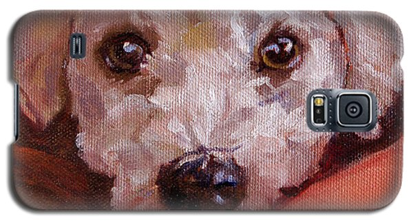 Galaxy S5 Case featuring the painting Lucky by Pattie Wall