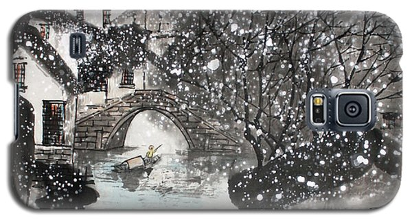 Galaxy S5 Case featuring the painting Lucky Snow  by Yufeng Wang