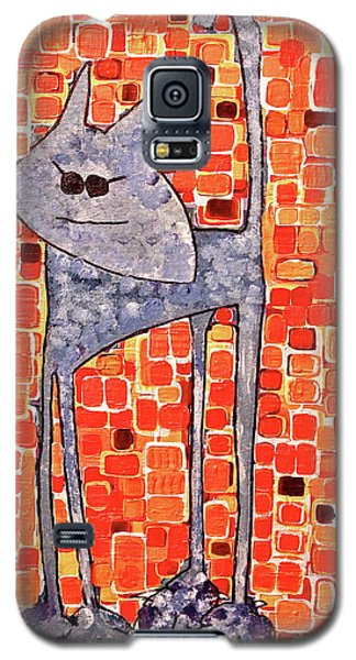 Galaxy S5 Case featuring the painting Lucy Bleu by Donna Howard