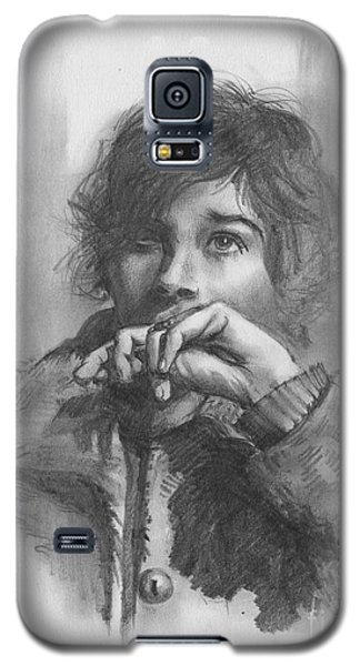 Galaxy S5 Case featuring the drawing Lucy by Paul Davenport