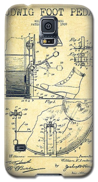 Ludwig Foot Pedal Patent Drawing From 1909 - Vintage Galaxy S5 Case