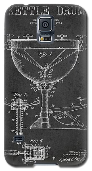 Drum Galaxy S5 Case - Ludwig Kettle Drum Drum Patent Drawing From 1941 - Dark by Aged Pixel