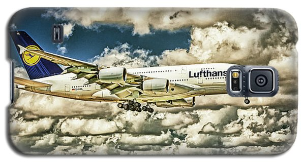 Lost In The Clouds Lufthansa A380 Named Hamburg-colorized Abstract Galaxy S5 Case