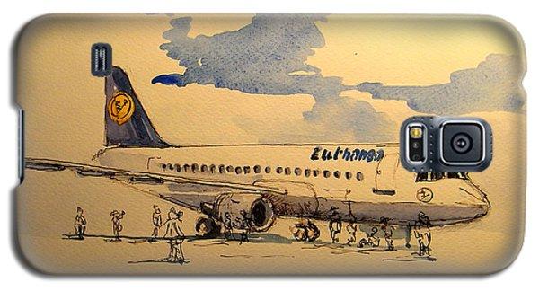 Lufthansa Plane Galaxy S5 Case by Juan  Bosco