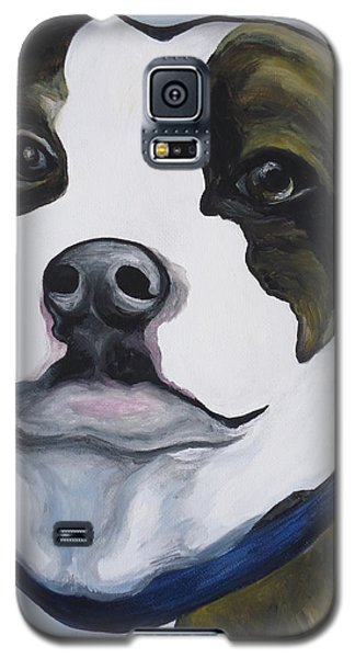 Galaxy S5 Case featuring the painting Lugnut Portrait by Leslie Manley
